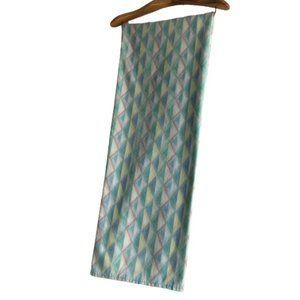 Vintage Pastel Diamond Stripe Geometric Flat Sheet